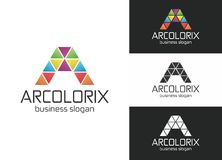 Arcolorix en bokstavslogo Royaltyfri Fotografi