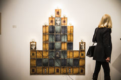 ARCOmadrid当代艺术市场开始它的第33编辑。Madri 库存照片