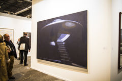 ARCOmadrid contemporary art fair  begins its 33rd edition. Madri Royalty Free Stock Image