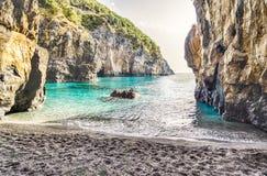 Arcomagno Beach on the Coast of the Cedars, Tyrrhenian Sea, Ital Royalty Free Stock Image