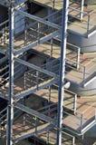 Arcones del almacenamiento con la escalera Foto de archivo
