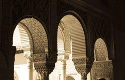 Arcos árabes hermosos Fotografía de archivo libre de regalías