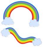 Arcos-íris com nuvens ilustração do vetor