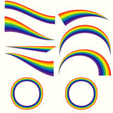 Arcos-íris diferentes ajustados Fotografia de Stock Royalty Free