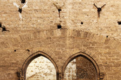 Arcos aguçado, paredes de pedra, Idade Média Imagem de Stock
