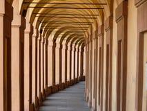 Arcos, Bolonia Imágenes de archivo libres de regalías