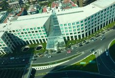 Arcos bosques. Architecture corporate aerial Royalty Free Stock Images