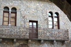 Arcos, círculos e quadrados na arquitetura bonita Fotos de Stock Royalty Free