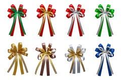 Arcos coloridos de las cintas aislados en el fondo blanco Imagen de archivo libre de regalías