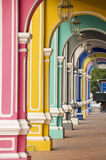 Arcos coloridos, Penang Malaysia imagem de stock royalty free