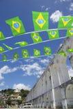 Arcos DA Lapa βραζιλιάνες σημαίες Ρίο ντε Τζανέιρο αψίδων Στοκ φωτογραφίες με δικαίωμα ελεύθερης χρήσης