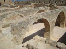 Arcos de Fortezza, fortaleza en Rethymno, Crete foto de archivo