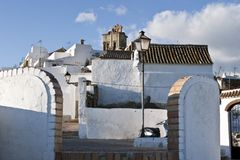 arcos de frontera πόλης λευκό Λα Ισπανί&alph Στοκ Φωτογραφία