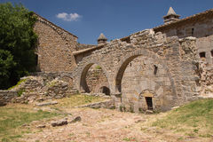 Arcos de la abadía de Thoronet (Francia) Imagenes de archivo