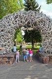 Arcos de la asta en Jackson Hole Imágenes de archivo libres de regalías