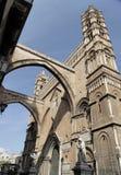 Arcos de la catedral de Palermo foto de archivo