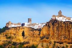 Arcos de la Frontera är en stad i Cadiz Arkivbild