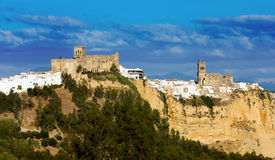 Arcos de la Frontera. Scenic Shot of the hilltop city of southern Spain. One of the white villages of andalusia Stock Photo