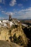 53 Arcos De La Frontera, Cadiz, Hiszpania Zdjęcia Stock