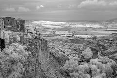 Arcos de la Frontera in Infrared Stock Photo