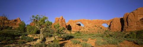 Arcos de la piedra arenisca Imagenes de archivo