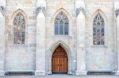 Arcos de la puerta y de la ventana de la iglesia de Fraumunster Fotografía de archivo