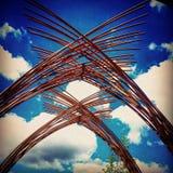 Arcos de madeira - Dallas Arb Fotografia de Stock