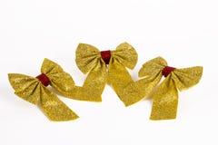 Arcos de oro de la Navidad Fotografía de archivo libre de regalías