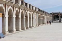 Arcos de pedra em Aranjuez, Espanha fotos de stock royalty free