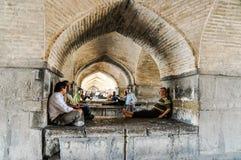 Arcos de pedra em Esfahan em Irã Imagens de Stock Royalty Free