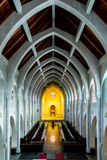 Arcos de piedra en capilla Fotos de archivo