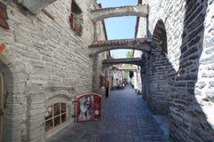 Arcos de piedra en el carril de Catalina Fotografía de archivo