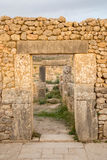 Arcos de piedra en las ruinas de Volubilis Fotografía de archivo libre de regalías
