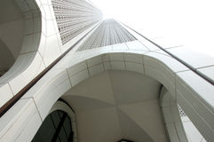 Arcos de un edificio moderno Imagen de archivo libre de regalías