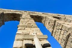 Arcos del acueducto de Segovia - España Foto de archivo libre de regalías