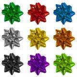 Arcos del envoltorio para regalos Imagen de archivo libre de regalías