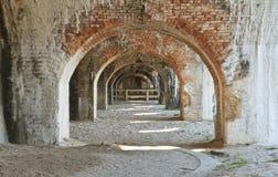 Arcos del exterior de Pickens de la fortaleza Foto de archivo libre de regalías