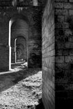 Arcos del ferrocarril del ladrillo Imágenes de archivo libres de regalías