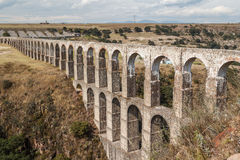 Arcos del Sitio aqueduct for water supply in Tepotzotlan. Mexico Stock Image