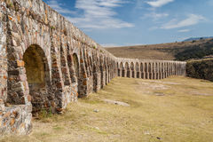 Arcos del Sitio aqueduct for water supply in Tepotzotlan. Mexico Stock Photography