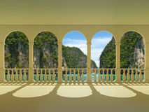 Arcos e colunas Imagens de Stock