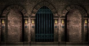 Arcos e porta do ferro imagens de stock
