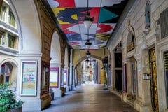 Arcos em Lerida, Espanha foto de stock