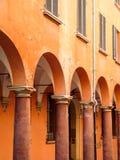 Arcos en Bolonia Foto de archivo libre de regalías