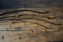 Arcos en hojas de otoño fotos de archivo