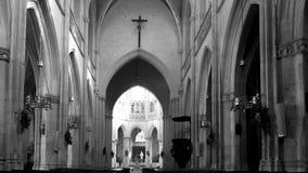 Arcos en iglesia Fotografía de archivo libre de regalías