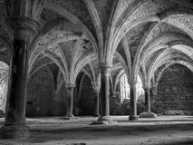 Arcos en la abadía de la batalla en Hastings Imágenes de archivo libres de regalías