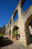 Arcos en la misión de San Jose en San Antonio Tejas Foto de archivo