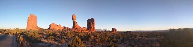 Arcos en la puesta del sol Fotografía de archivo