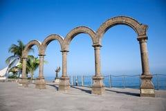 arcos lokaliserade los Puerto Vallarta Arkivfoto